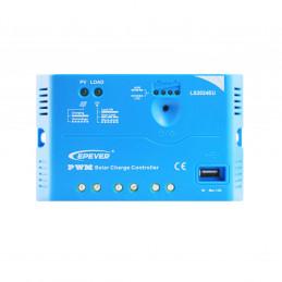 Controlador de Carga Solar PWM Epever LS2024EU 20A 12/24V Auto USB5V