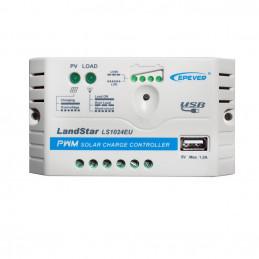 Controlador de Carga Solar PWM Epever LS1024EU 10A 12/24V Auto USB5V