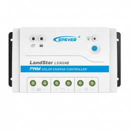 Controlador de Carga Solar PWM Epever LS3024B 30A 12/24V Auto