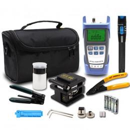 Kits de herramientas de fibra óptica FTTH Empalme Separador De Fibra +FC-6S cortadora de fibra Bolsa 9 en 1