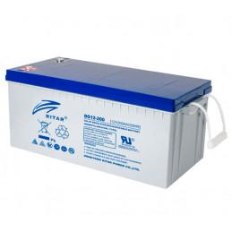 Bateria Gell Ritar DG12-200 12V 200Ah Terminal F10 52.2x24x21.9cm