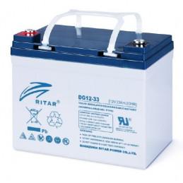 Bateria Gell Ritar DG12-33 12V 33Ah Terminal F7/F11 19.5x13x15.5cm