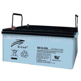 Bateria AGM VRLA Ritar RA12-260 12V 260Ah Terminal F14 52x26.8x22cm