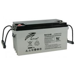 Bateria AGM VRLA Ritar RA12-80 12V 80Ah Terminal F5/F11 35x16.7x18cm