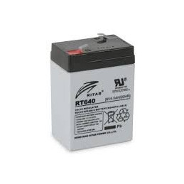 Bateria AGM VRLA Ritar RT640 6V 4Ah Terminal F1 7x4.7x9.9cm