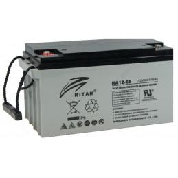 Bateria AGM VRLA Ritar RA12-65 12V 65Ah Terminal F5/F11 35x16.7x18cm