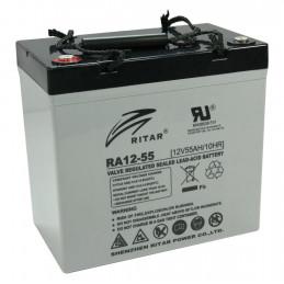 Bateria AGM VRLA Ritar RA12-55 12V 55Ah Terminal F11/F15 22.9x13.8x21cm