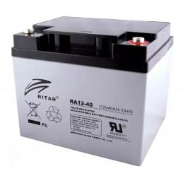 Bateria AGM VRLA Ritar RA12-40 12V 40Ah Terminal F4/F11 19.8x16.6x17.1cm