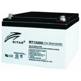 Bateria AGM VRLA Ritar RT12260 12V 26Ah Terminal F13 16.6x17.5x12.5cm