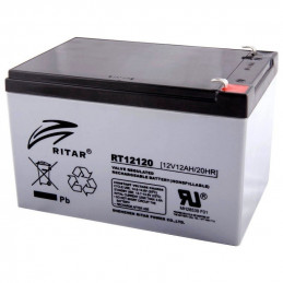 Bateria AGM VRLA Ritar RT12120 12V 12Ah Terminal F1/F2 15.1x9.8x9.5cm