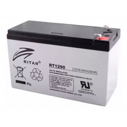Bateria AGM VRLA Ritar RT1290 12V 9Ah Terminal F1/F2 15.1x6.5x9.4cm