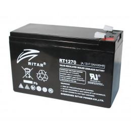 Bateria AGM VRLA Ritar RT1270A 12V 7Ah Terminal F1/F2 15.1x6.5x9.4cm