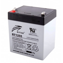 Bateria AGM VRLA Ritar RT1255 12V 5.5Ah Terminal F1/F2 9x7x10.1cm