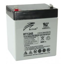 Bateria AGM VRLA Ritar RT1245 12V 4.5Ah Terminal F1/F2 9x7x10.1cm