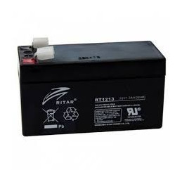 Bateria AGM VRLA Ritar RT1213 12V 1.3Ah Terminal F1 9.7x4.3x5.2cm