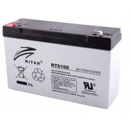 Bateria AGM VRLA Ritar RT6100 6V 10Ah Terminal F1/F2 15.1x5x9.4cm