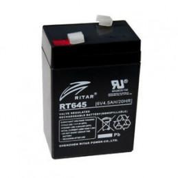 Bateria AGM VRLA Ritar RT645 6V 4.5Ah Terminal F1 7x4.7x9.9cm