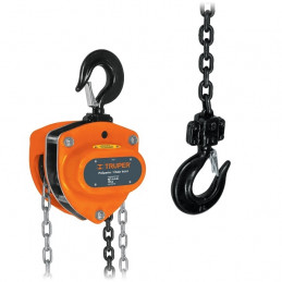 Tecle Industrial 1 Toneladas, Doble Trinquete, Mecanismo de triple engranaje, Peso 12.3kg, POL-1 16824 Truper
