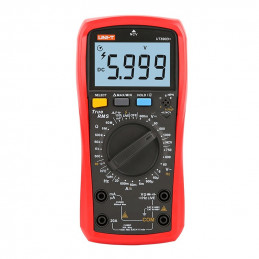 Multimetro Digital UNI-T UT-890D+ NCV True RMS DC1000V AC750V 20A Resistencia Capacitancia Frec hFE Diodo Continuidad