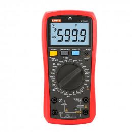 Multimetro Digital UNI-T UT-890C NCV True RMS DC1000V AC750V 20A Resistencia Capacitancia Frec Temp hFE Diodo Continuidad