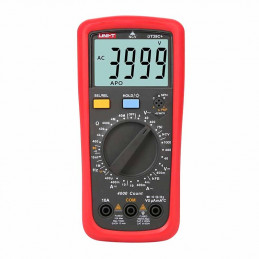 Multimetro Digital UNI-T UT-39C+ NCV DC1000V AC750V 10A Resistencia Capacitancia hFE Frec Temp Diodo Continuidad