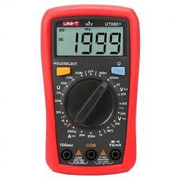 Multimetro Mini Digital UNI-T UT-33D+ ACDC600V NCV 10A Resistencia Diodo Continuidad