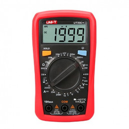 Multimetro Mini Digital UNI-T UT-33C+ ACDC600V 10A Resistencia Temperatura Diodo Continuidad