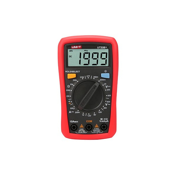 Multimetro Mini Digital UNI-T UT-33B+ ACDC600V 10A Resistencia Diodo Continuidad