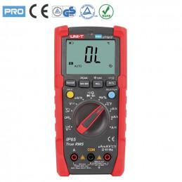 Multimetro Digital UNI-T UT-191T True RMS ACDC600V 20A IP65 Resistencia Capacitancia Frec Temp Diodo Continuidad