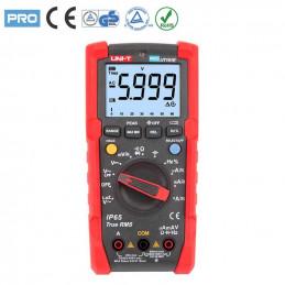 Multimetro Digital UNI-T UT-191E True RMS ACDC600V 20A IP65 Resistencia Capacitancia Frec Diodo Continuidad