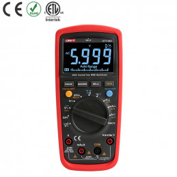 Multimetro Digital UNI-T UT-139S NCV Autorango True RMS ACDC600V 10A Resistencia Capacitancia Frec Temp Diodo Continuidad