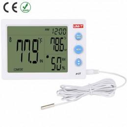 Medidor Humedad Temperatura UNI-T A12T higrometro Medidor alarma Reloj estación meteorológica