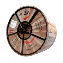Fibra Optica ADSS 12 Hilos MM Bobina 4000M SPAN 100M, Mizu MZ-ADSS-B1
