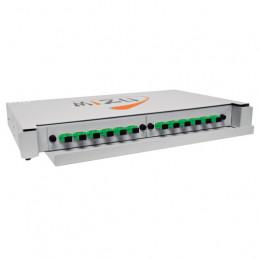 Bandeja de Fibra Optica 12 Salidas Opticas SC/APC Para RACK, Mizu MTB-RM-DR-12F-SA