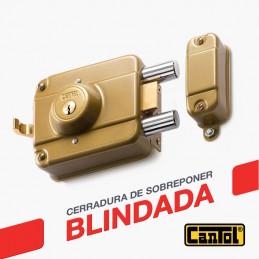 Cerradura Blindada Cantol S900 Dorado 3Golpes 3Llaves 7Pines 2Pivotes Pprincipal Madera