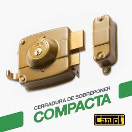 Cerradura Compacta Cantol SC160 Dcha Dorado 2Golpes 3Llaves 7Pines 2Pivotes Int-Ext Madera