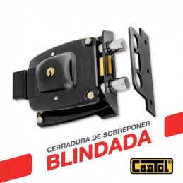 Cerradura Blindada Cantol Maxima M-1700 Negro 3Golpes 3Llaves 7Pines 2Pivotes Pprincipal Fierro