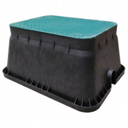 Arqueta de riego rectangular jumbo IRRITEC Tapa52x37cm Alto30cm Base63x49,5cm