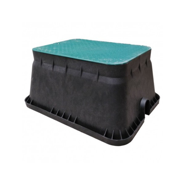 Arqueta de riego rectangular jumbo IRRITEC Tapa52x37cm Alto30cm Base63x49.5cm