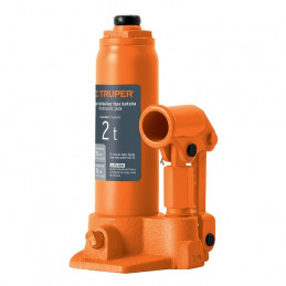Gata de Botella 2 Toneladas, Con Tornillo de Extension, Altura Max 350 mm, GAT-2 14810 Truper