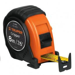 Wincha Flexometro Gripper 8 Metros, contra impacto TPR, carcasa ABS, FH-8M 14579 Truper