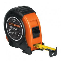 Wincha Flexometro Gripper 5 Metros, contra impacto TPR, carcasa ABS, FH-5M 14578 Truper