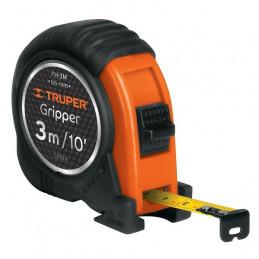 Wincha Flexometro Gripper 3 Metros, contra impacto TPR, carcasa ABS, FH-3M 14577 Truper