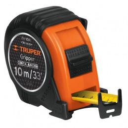 Wincha Flexometro Gripper 10 Metros, contra impacto TPR, cinta extra ancha, carcasa ABS, FH-10M 14582 Truper