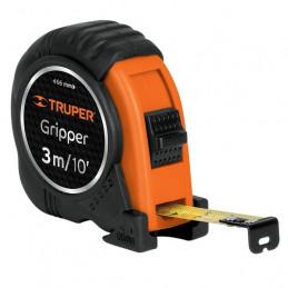 Wincha Flexometro Griper 3M con TPR, cinta medicion ambos lados, carcasa ABS, FH-3ME 15387 Truper