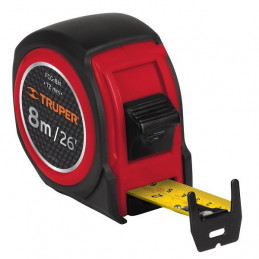 Wincha Flexometro Compactas 8M con TPR, cinta medicion ambos lados, carcasa ABS, FCG-8M 12774 Truper