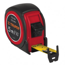 Wincha Flexometro Compactas 5M con TPR, cinta medicion ambos lados, carcasa ABS, FCG-5M 12772 Truper