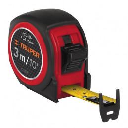 Wincha Flexometro Compactas 3M con TPR, cinta medicion ambos lados, carcasa ABS, FCG-3M 12771 Truper