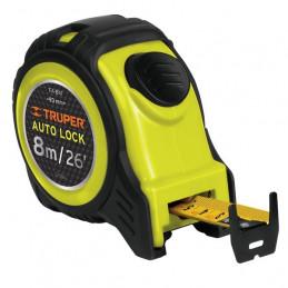 Wincha Flexometro Auto-Lock 8M con TPR, cinta medicion ambos lados, carcasa ABS, FA-8M 10749 Truper