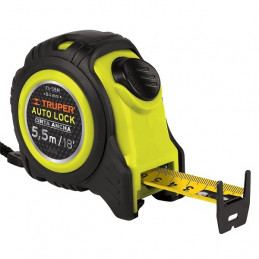 Wincha Flexometro Auto-Lock 5.5M con TPR, cinta medicion ambos lados, carcasa ABS, FA-55M 10748 Truper